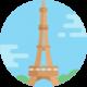 torre eiffel icona