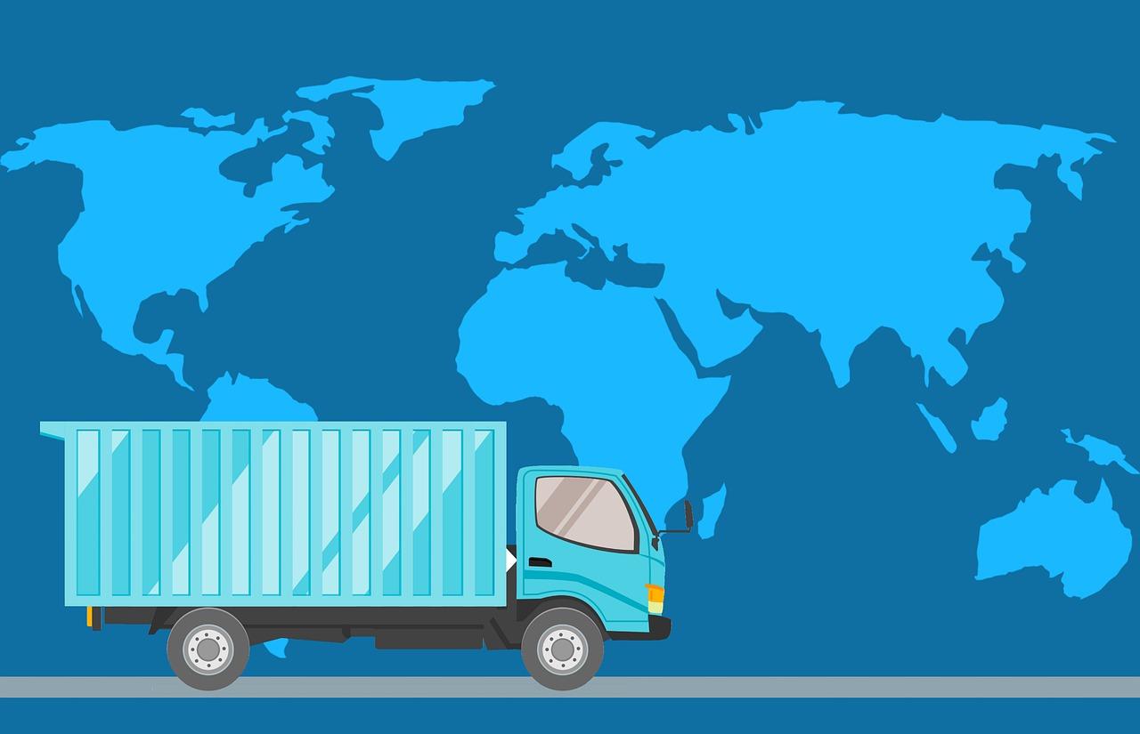 consegna spedizione reso camion blu