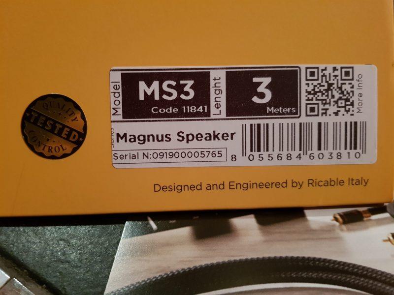 Magnus Speaker Luigi Prova un Ricable